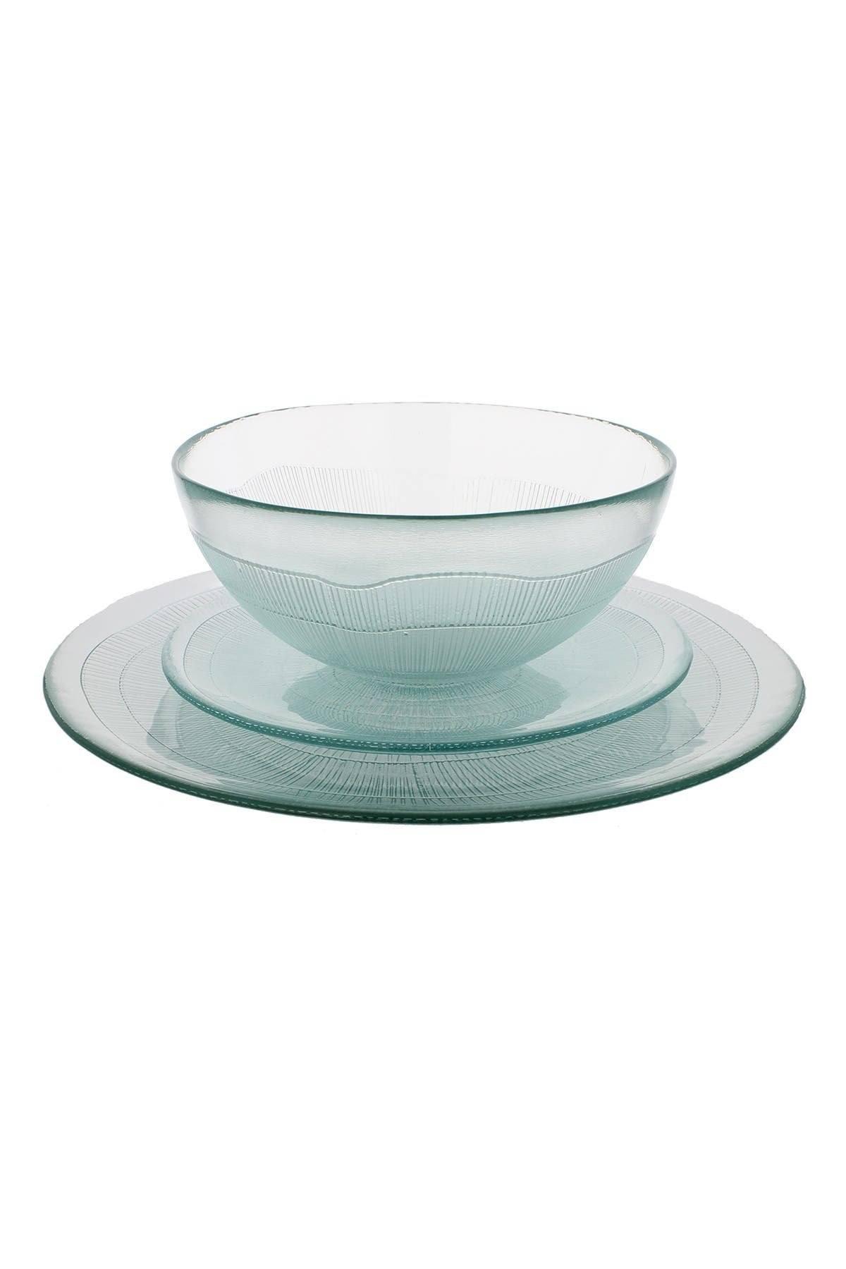 Image of French Home Recycled Glass 12-Piece Birch Dinnerware Set