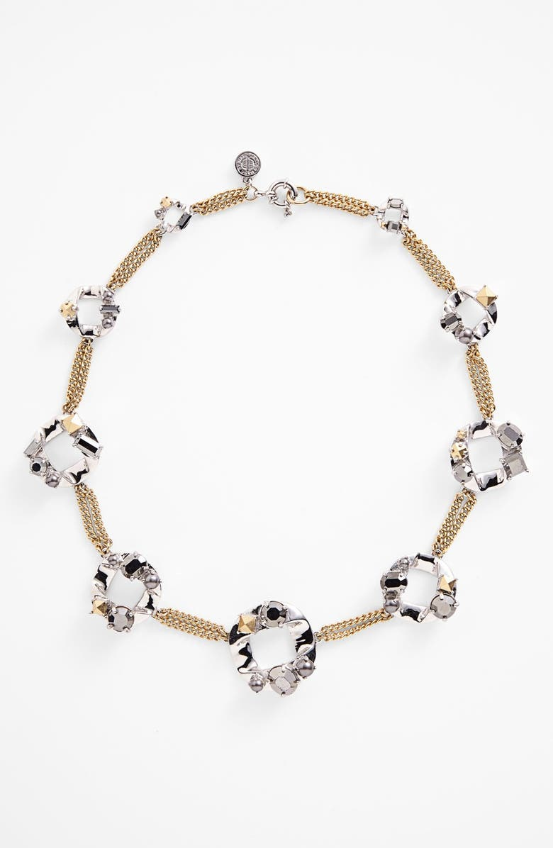 MARC BY MARC JACOBS 'Link to Katie - Large' Link Necklace, Main, color, GOLD/ SILVER MULTI