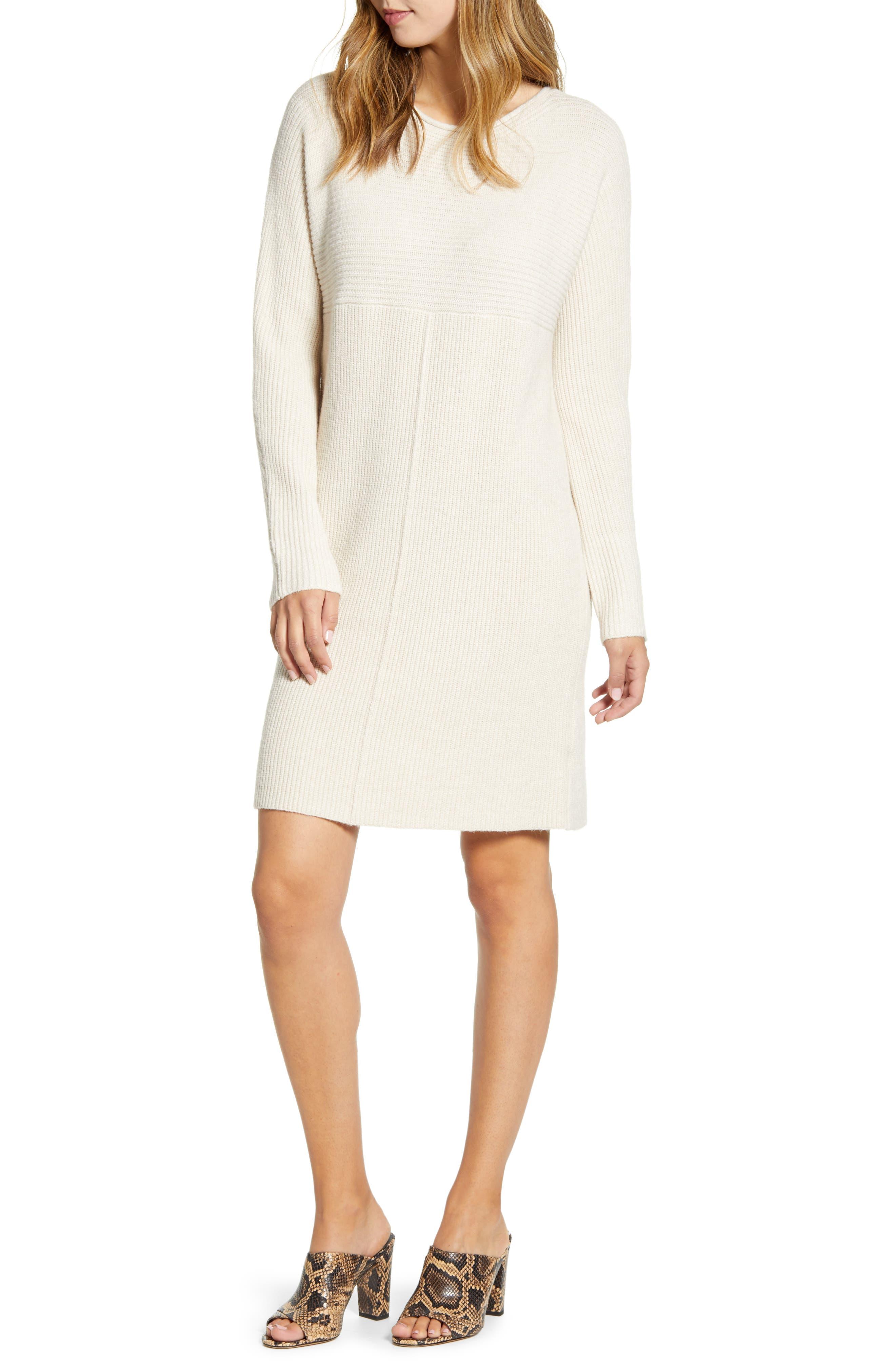 Caslon® Sweater Dress (Regular & Petite)