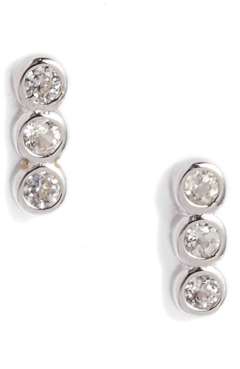 MELANIE AULD Ellipses Stud Earrings, Main, color, SILVER