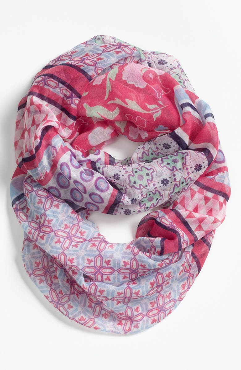 TILDON Mixed Pattern Infinity Scarf, Main, color, 600