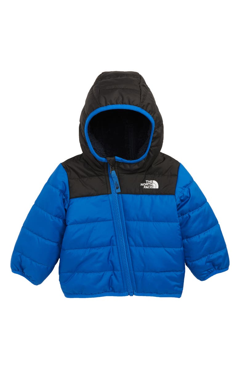THE NORTH FACE Mount Chimborazo Reversible Water Repellent Heatseeker<sup>™</sup> Jacket, Main, color, MONTAGUE BLUE DENIM PRINT