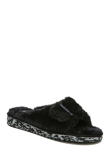 Image of Dr. Scholl's Staycay OG Faux Fur Buckle Slide Sandal