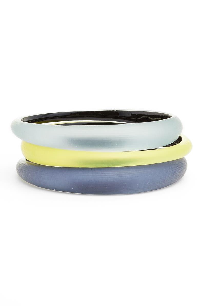 ALEXIS BITTAR Alex Bittar Set of 3 Tapered Lucite<sup>®</sup> Bangle Bracelets, Main, color, 488