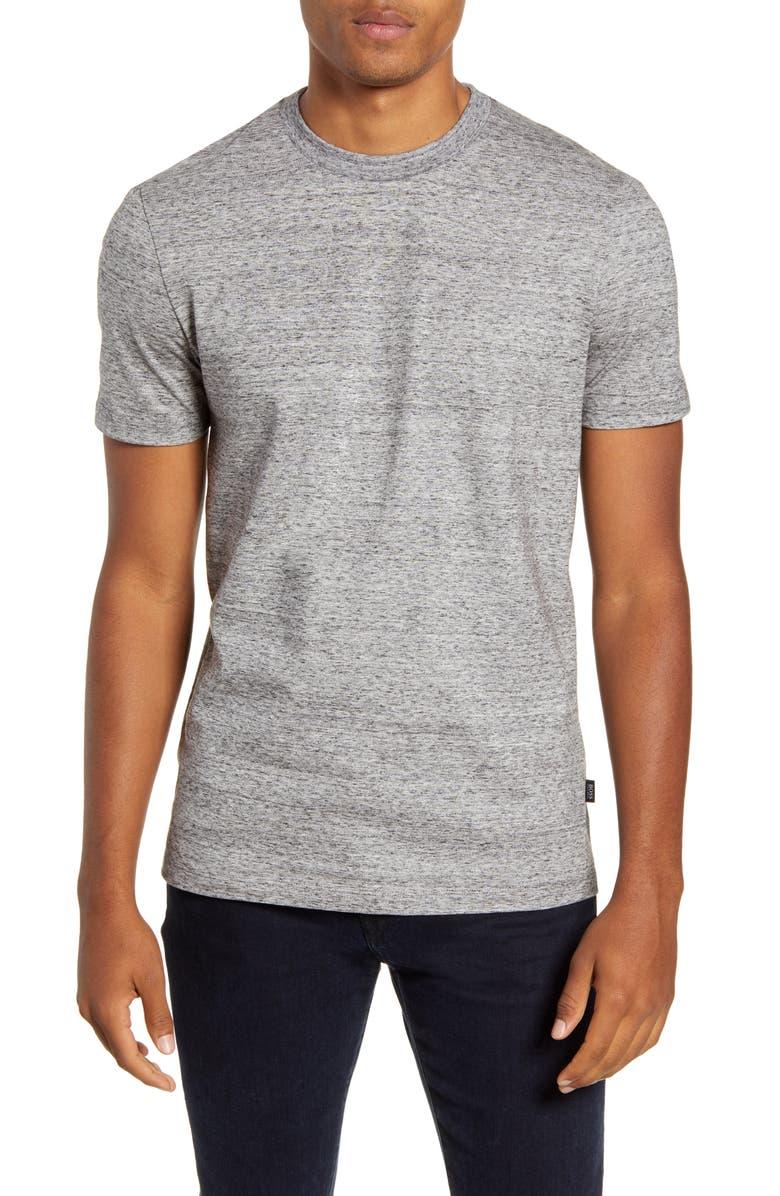 BOSS Tiburt Cotton Crewneck T-Shirt, Main, color, 020