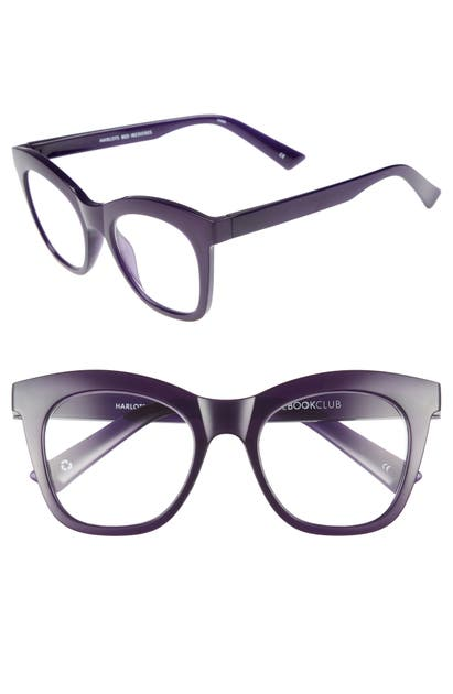 The Book Club HARLOT'S BED 51MM READING GLASSES - DEEP PURPLE