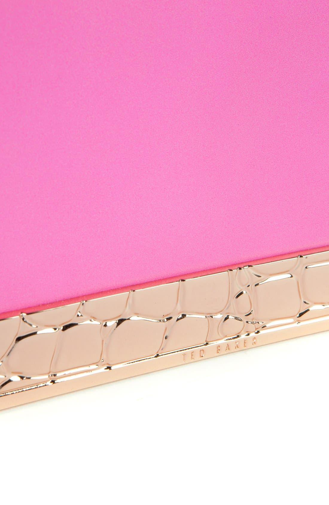 ,                             'Elise' Leather Box Clutch,                             Alternate thumbnail 8, color,                             660