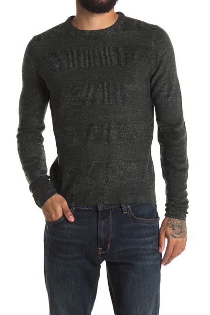 Image of weatherproof Soft Touch Stripe Print Crew Neck Sweater