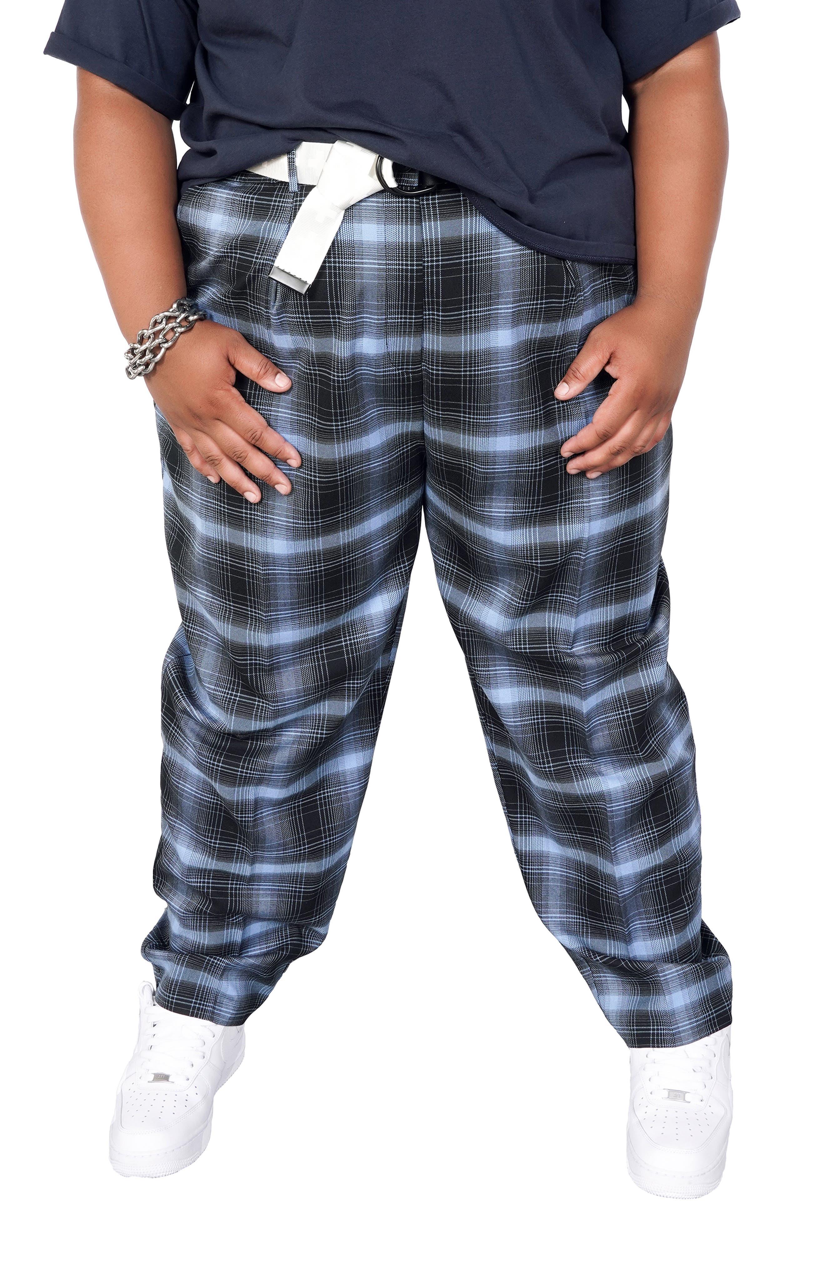 Plus Size Women's Bp. + Wildfang Brushed Plaid Pants