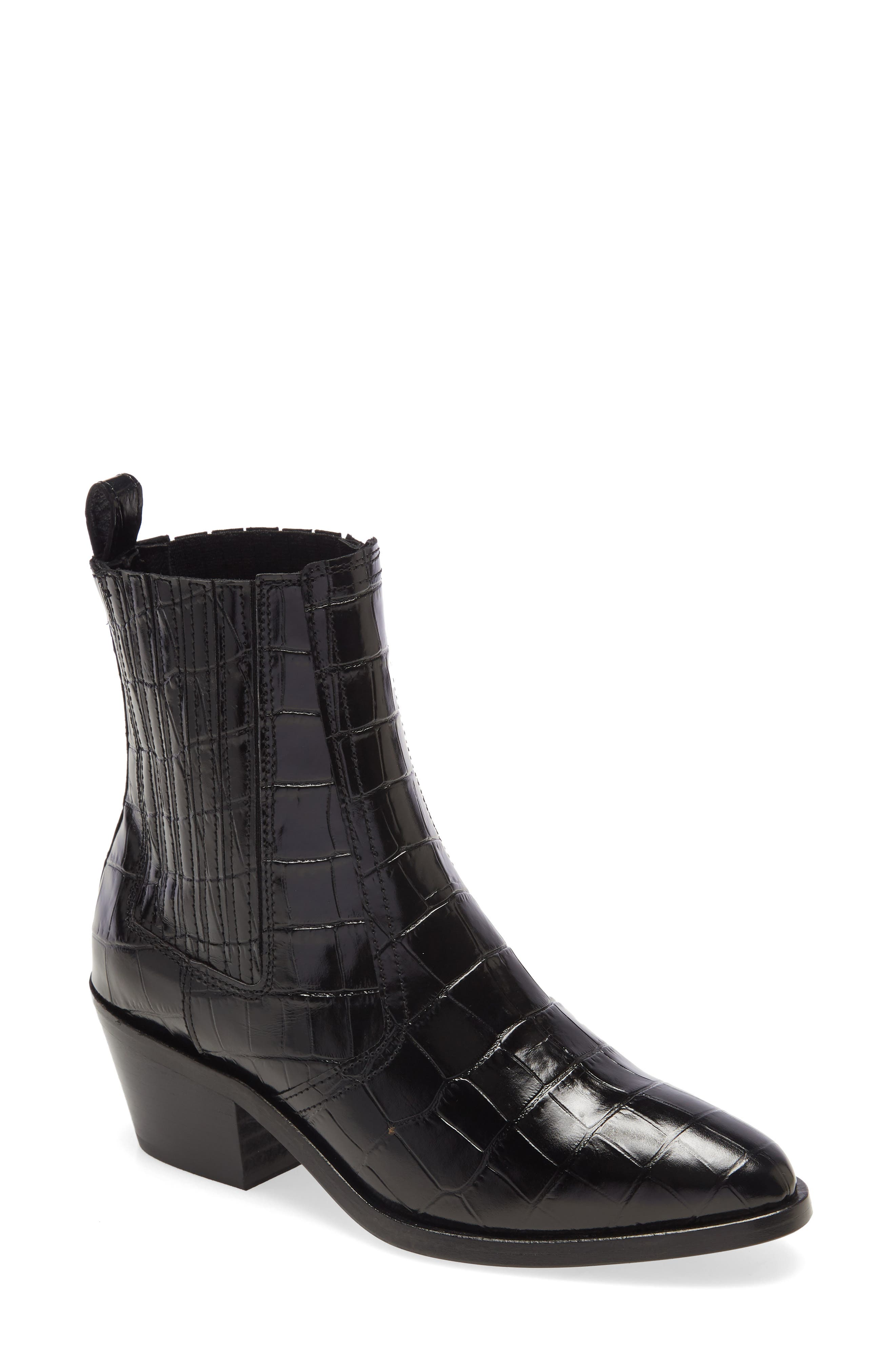 This sizzling boot makes a real point with its sinewy construction, supple leather and urban (with a dash of Western) attitude. Style Name: Allsaints Miriam Bootie (Women). Style Number: 5984252. Available in stores.