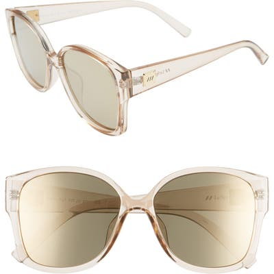 Le Specs Athena 5m Special Fit Oversized Sunglasses - Stone/ Gold