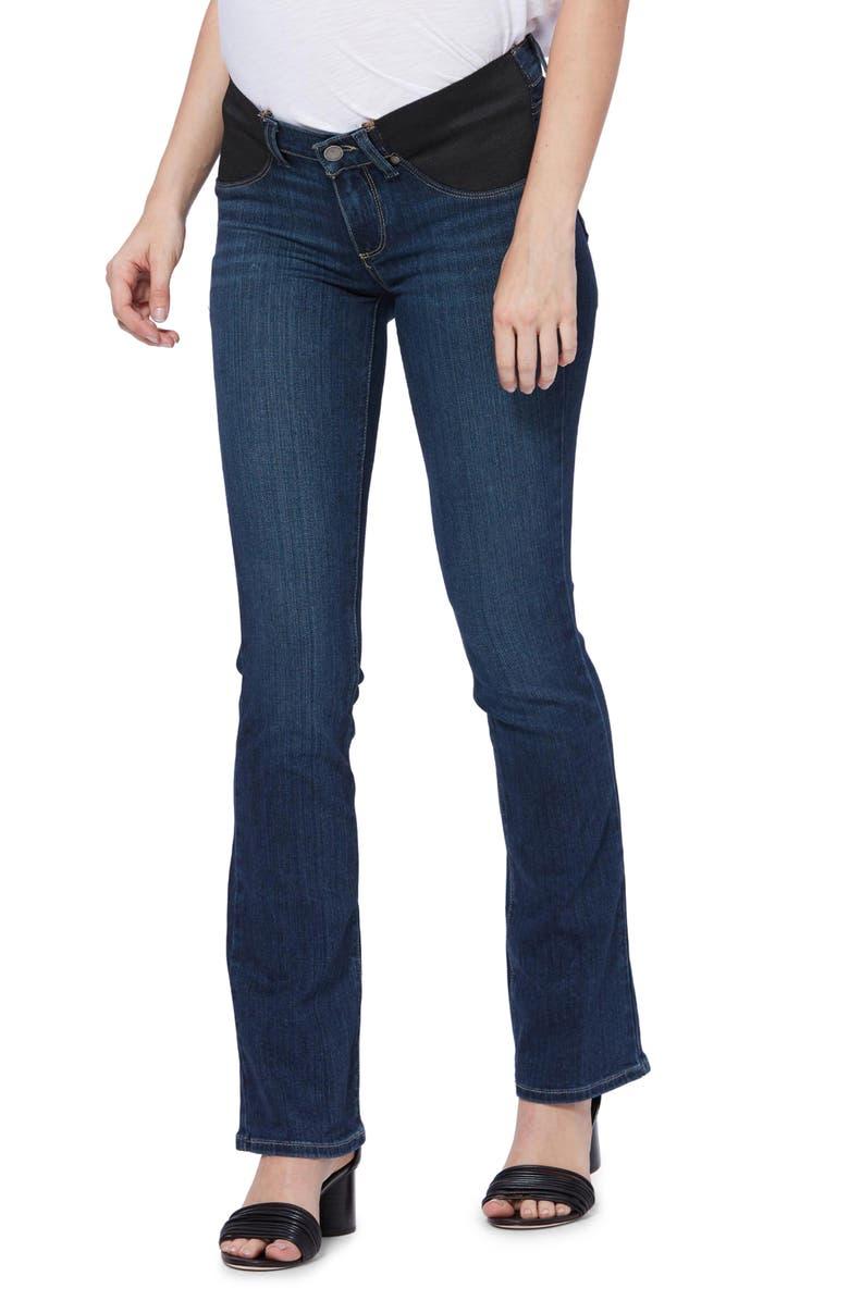 PAIGE Transcend - Manhattan Maternity Bootcut Jeans, Main, color, NOTTINGHAM