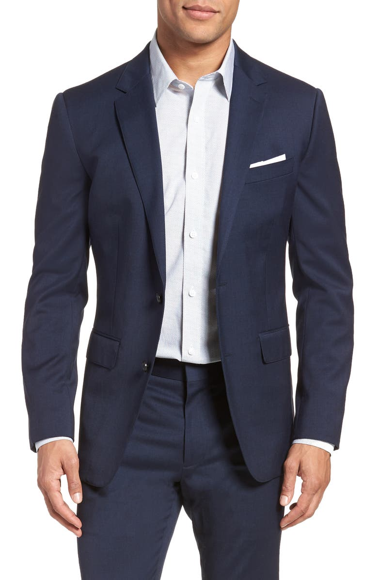 BONOBOS Jetsetter Slim Fit Stretch Wool Blazer, Main, color, BRIGHT NAVY