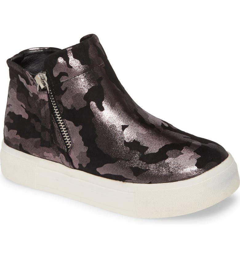 DOLCE VITA Cab Zip High Top Sneaker, Main, color, PEWTER