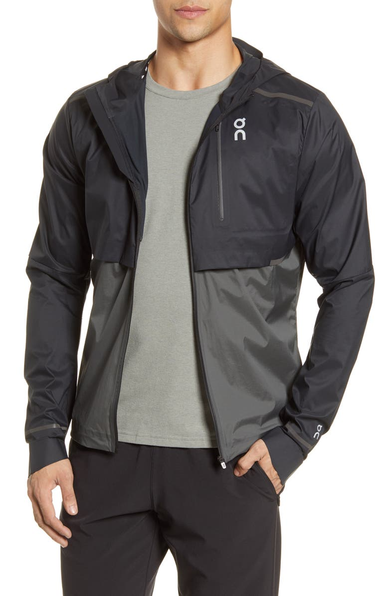 ON Weather Water Repellent Hooded Jacket, Main, color, 001