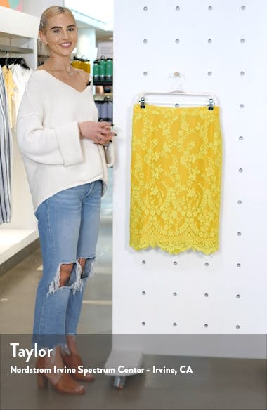 Chantilly Lace Pencil Skirt, sales video thumbnail