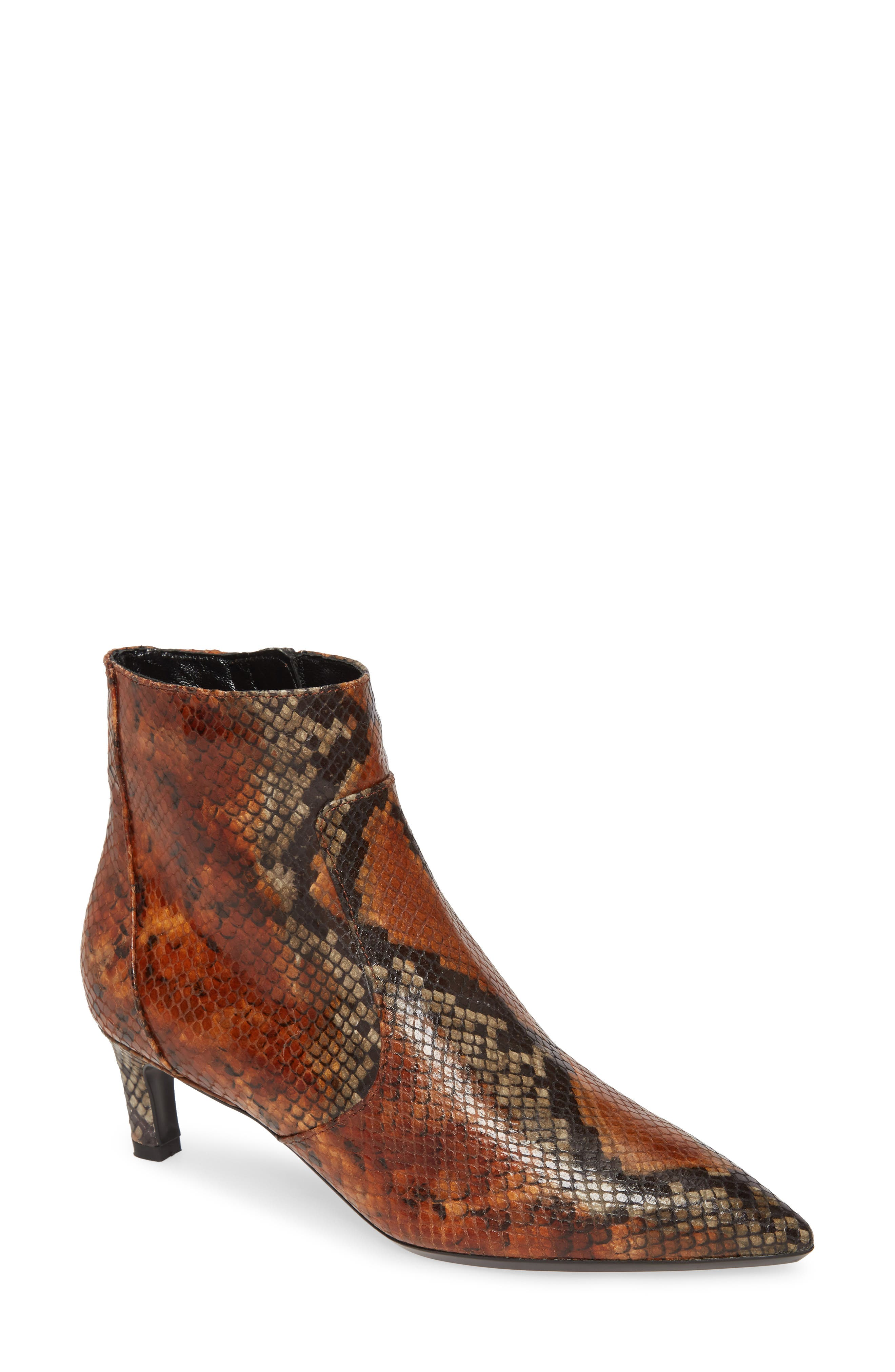 Image of Aquatalia Marilisa Snakeskin Embossed Leather Bootie