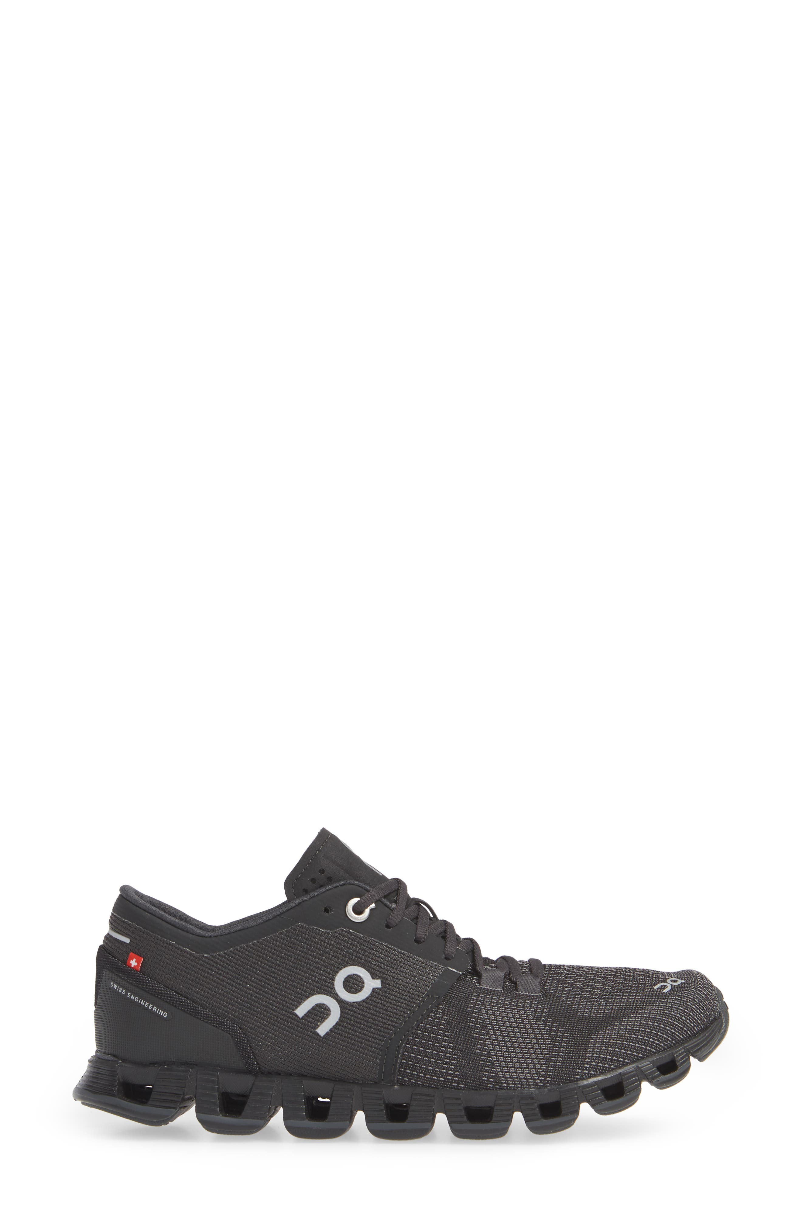 ,                             Cloud X Running Shoe,                             Alternate thumbnail 3, color,                             BLACK/ ASPHALT