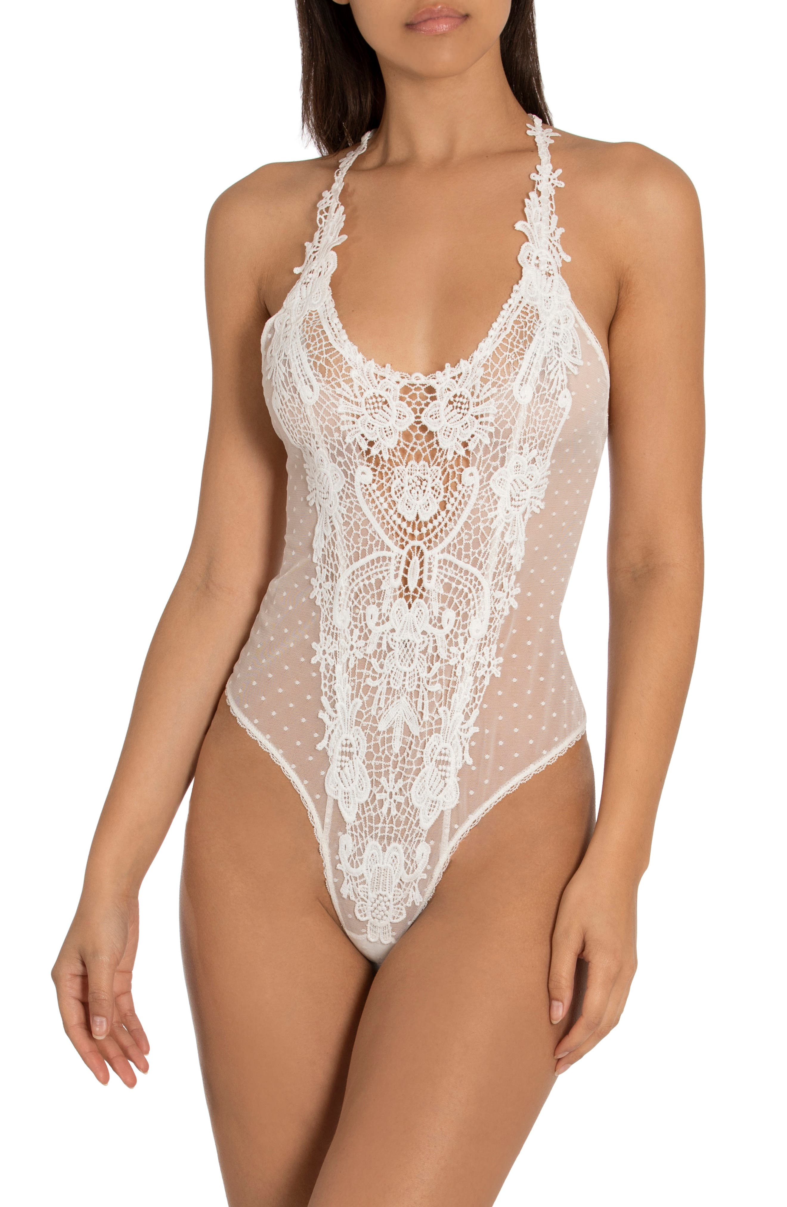Yesterday Lace Panel Teddy