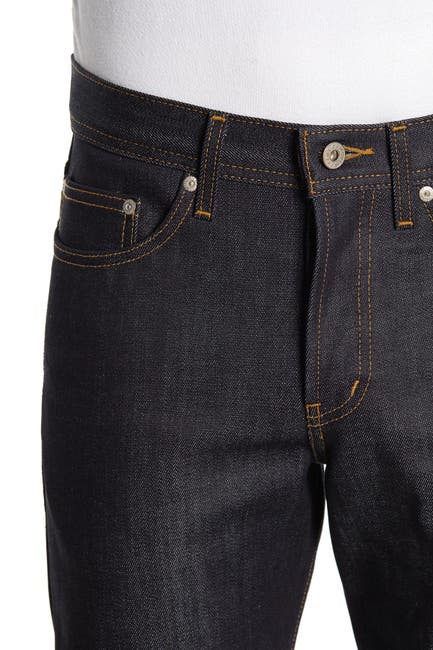 Image of Naked and Famous Weird Guy Button Fly Tapered Jeans