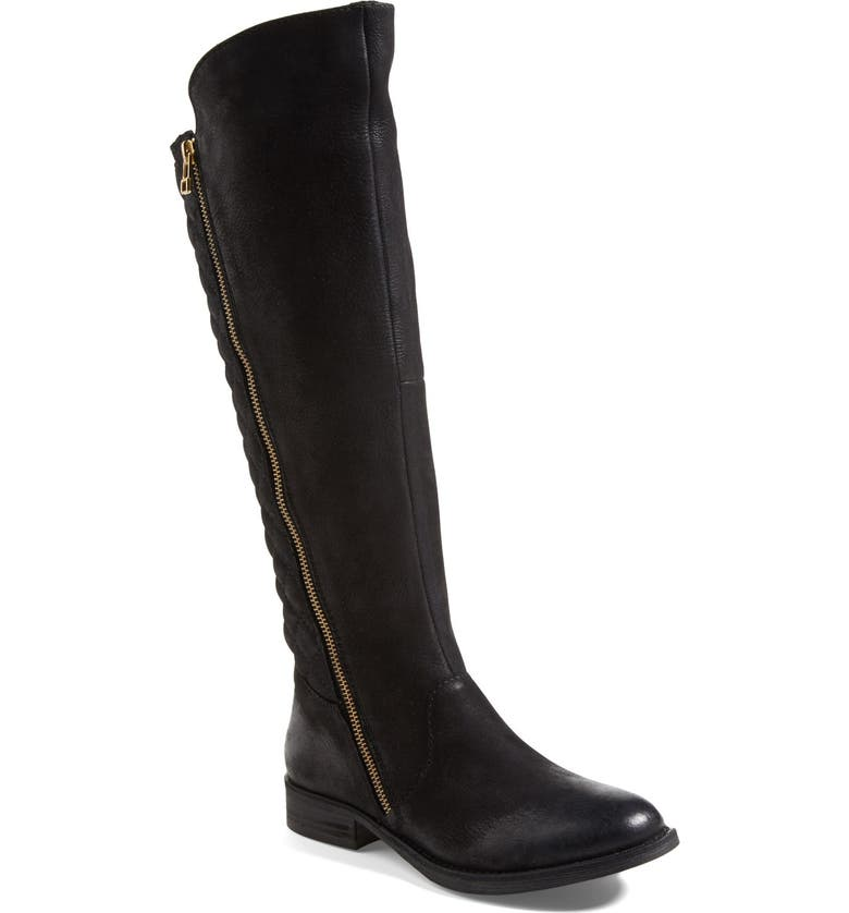 STEVE MADDEN 'Northsde' Quilt Back Knee High Boot, Main, color, 001