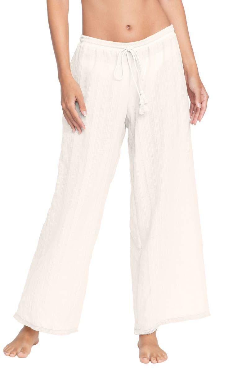 ROBIN PICCONE Michelle Cover-Up Pants, Main, color, ECRU
