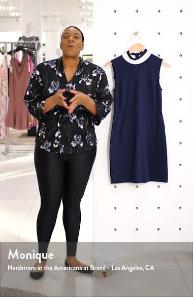Savos Sudan Textured Mock Neck Dress, sales video thumbnail