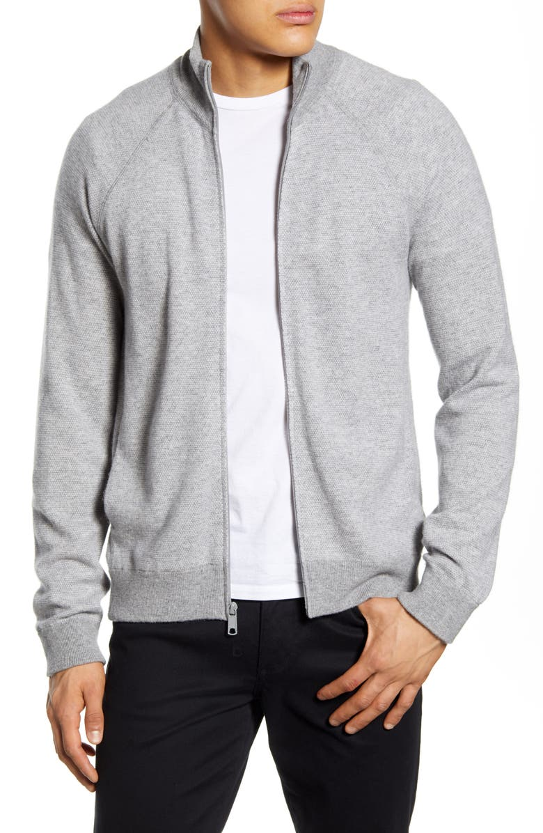 VINCE Wool & Cashmere Sweater Jacket, Main, color, 020
