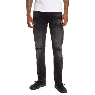 7 For All Mankind Paxtyn Skinny Fit Jeans, Black