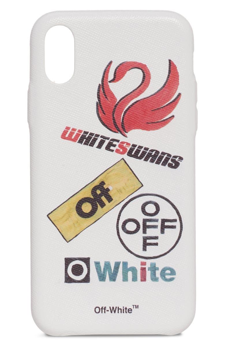 OFF-WHITE Multilogo iPhone X Case, Main, color, 100