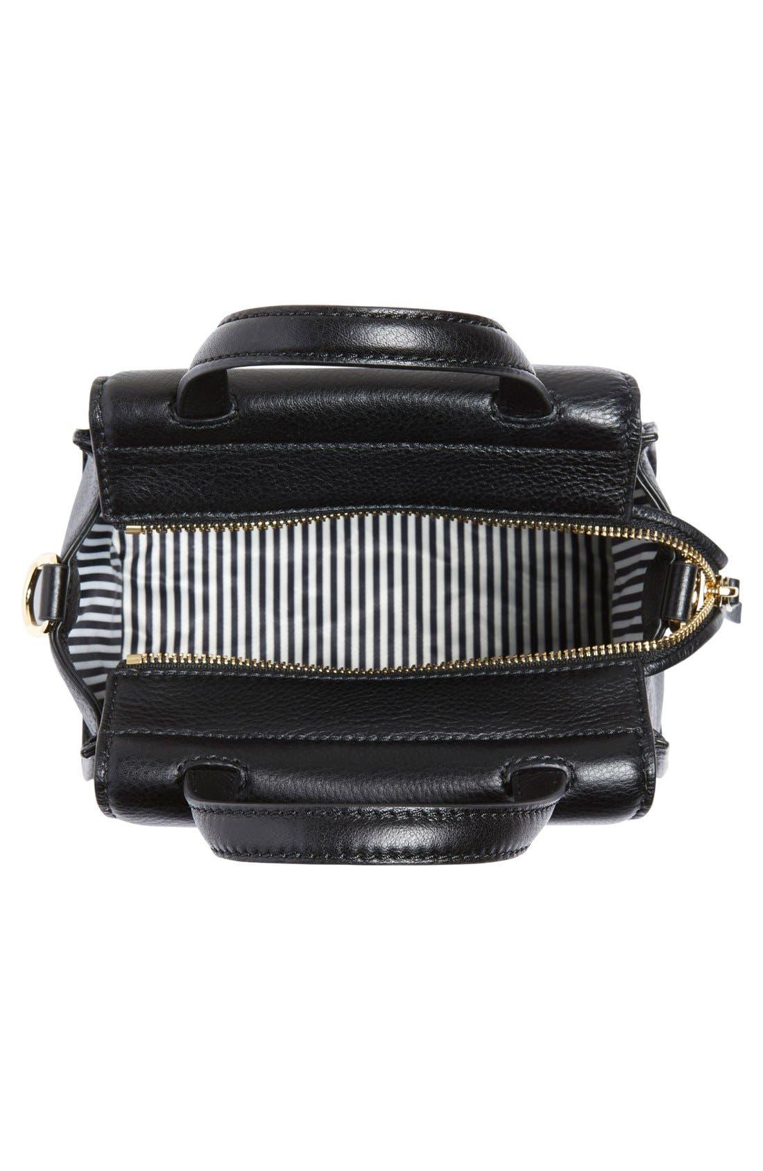 ,                             'cobble hill - small adrien' leather satchel,                             Alternate thumbnail 2, color,                             001