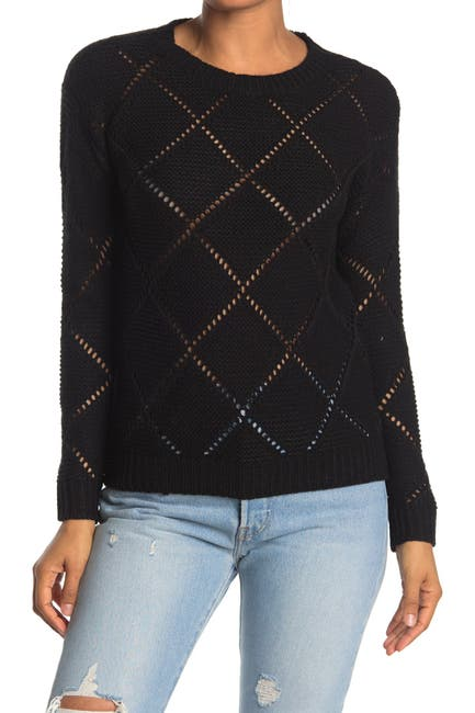 Image of Love by Design Diamond Stitch Crew Neck Sweater