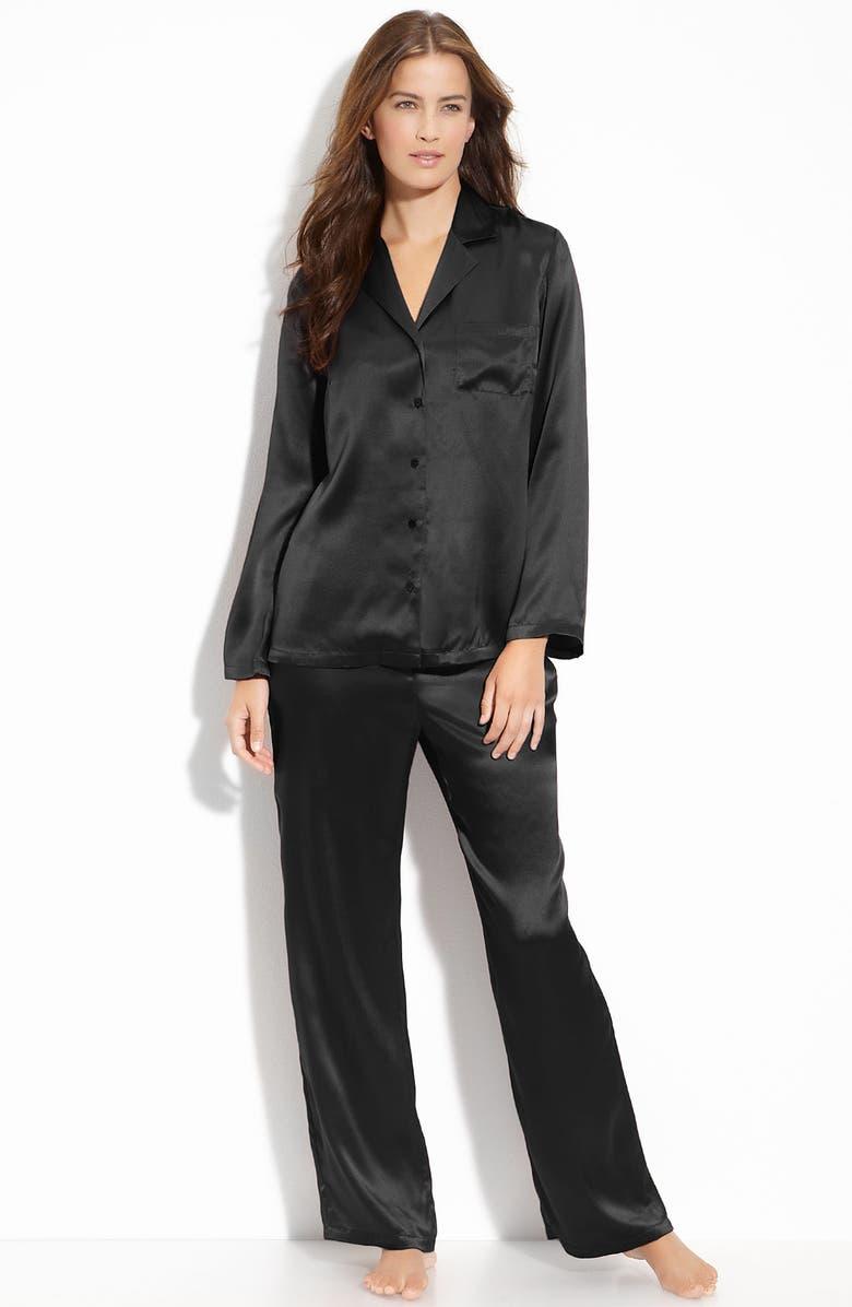 NORDSTROM Silk Pajamas, Main, color, 001