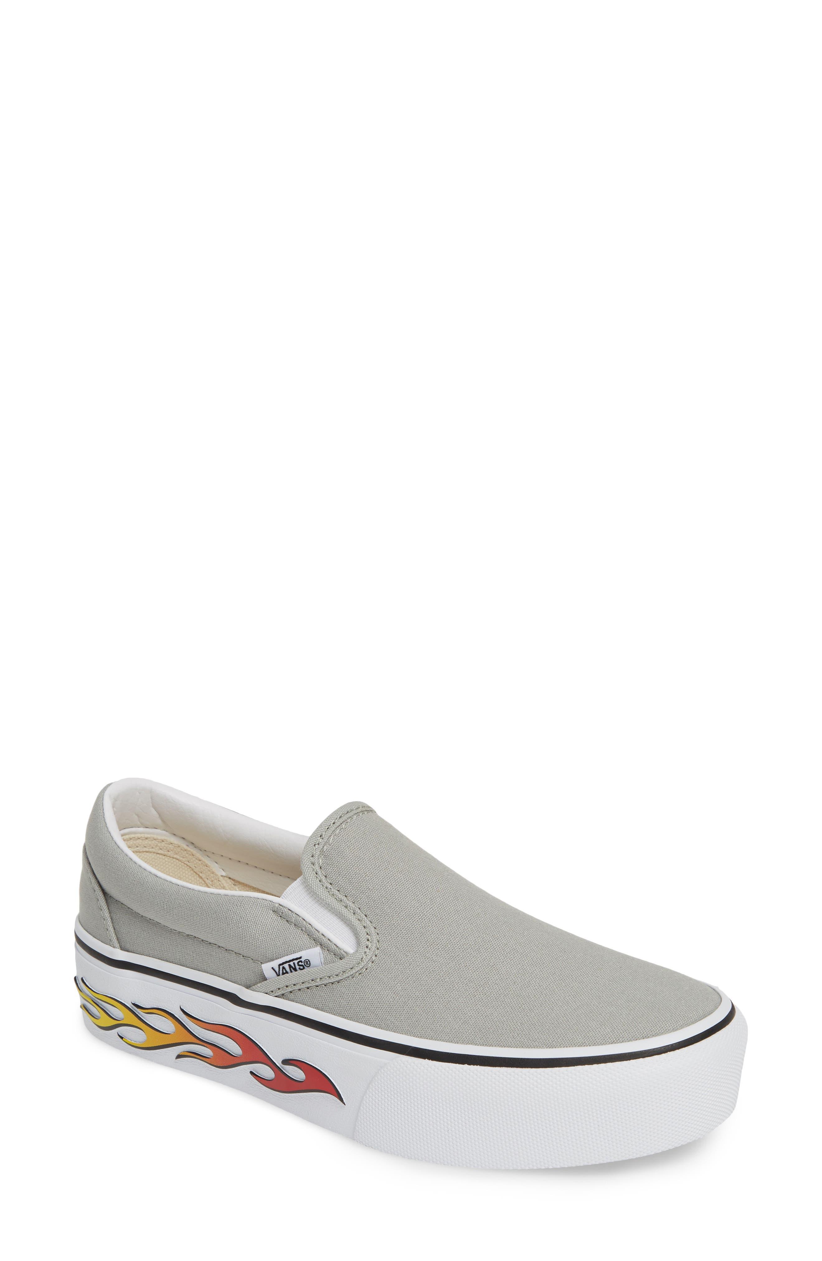 Vans Platform Slip-On Sneaker, Grey