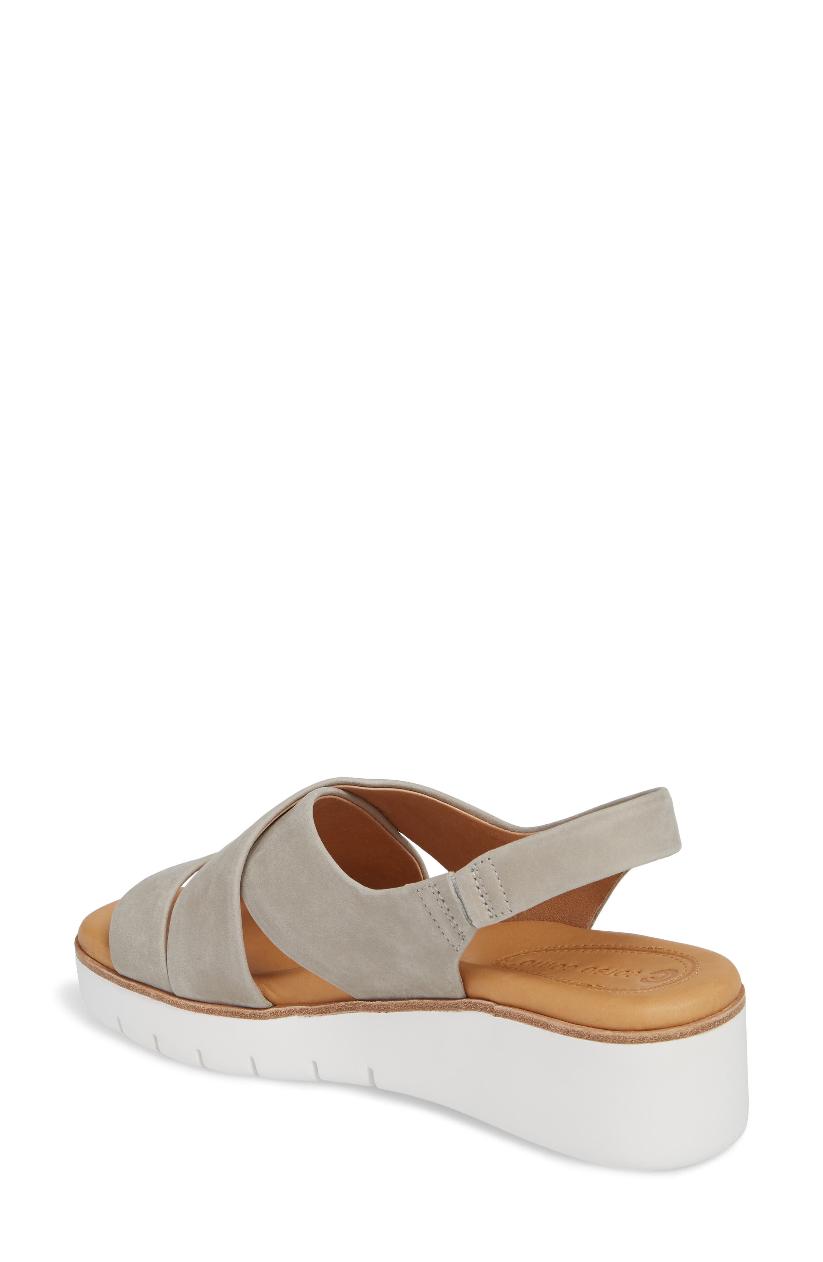 ,                             Brinney Wedge Sandal,                             Alternate thumbnail 2, color,                             GREY LEATHER