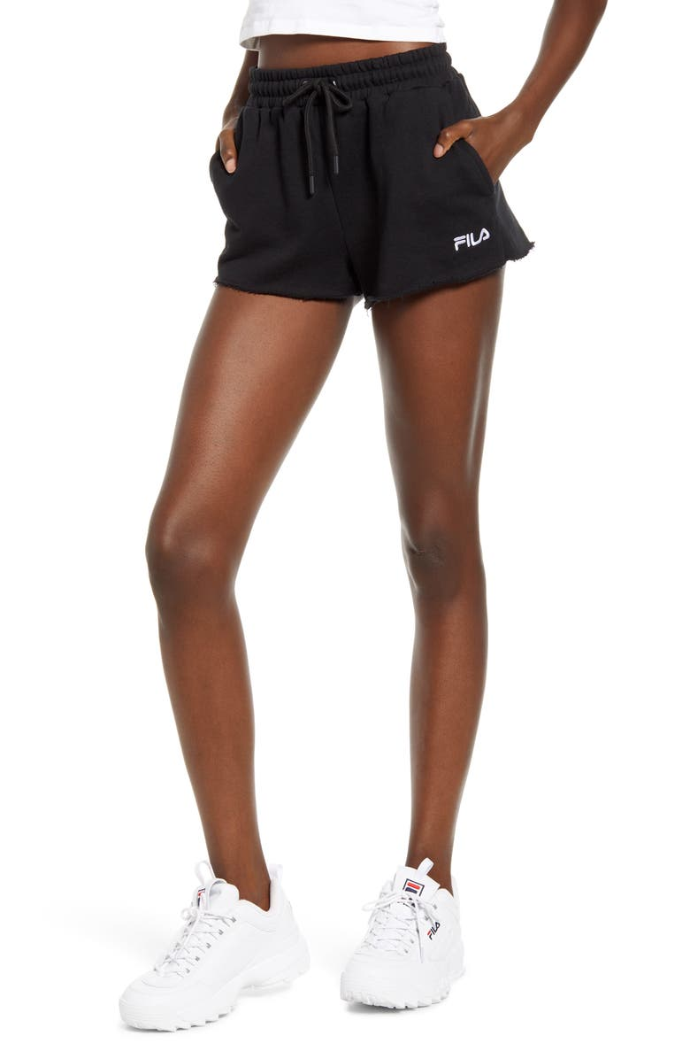 FILA Kari Knit Shorts, Main, color, BLACK