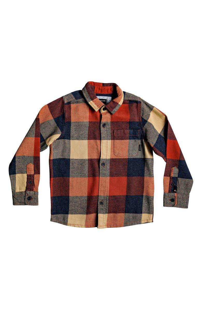 QUIKSILVER Motherfly Flannel Shirt, Main, color, BURNT BRICK