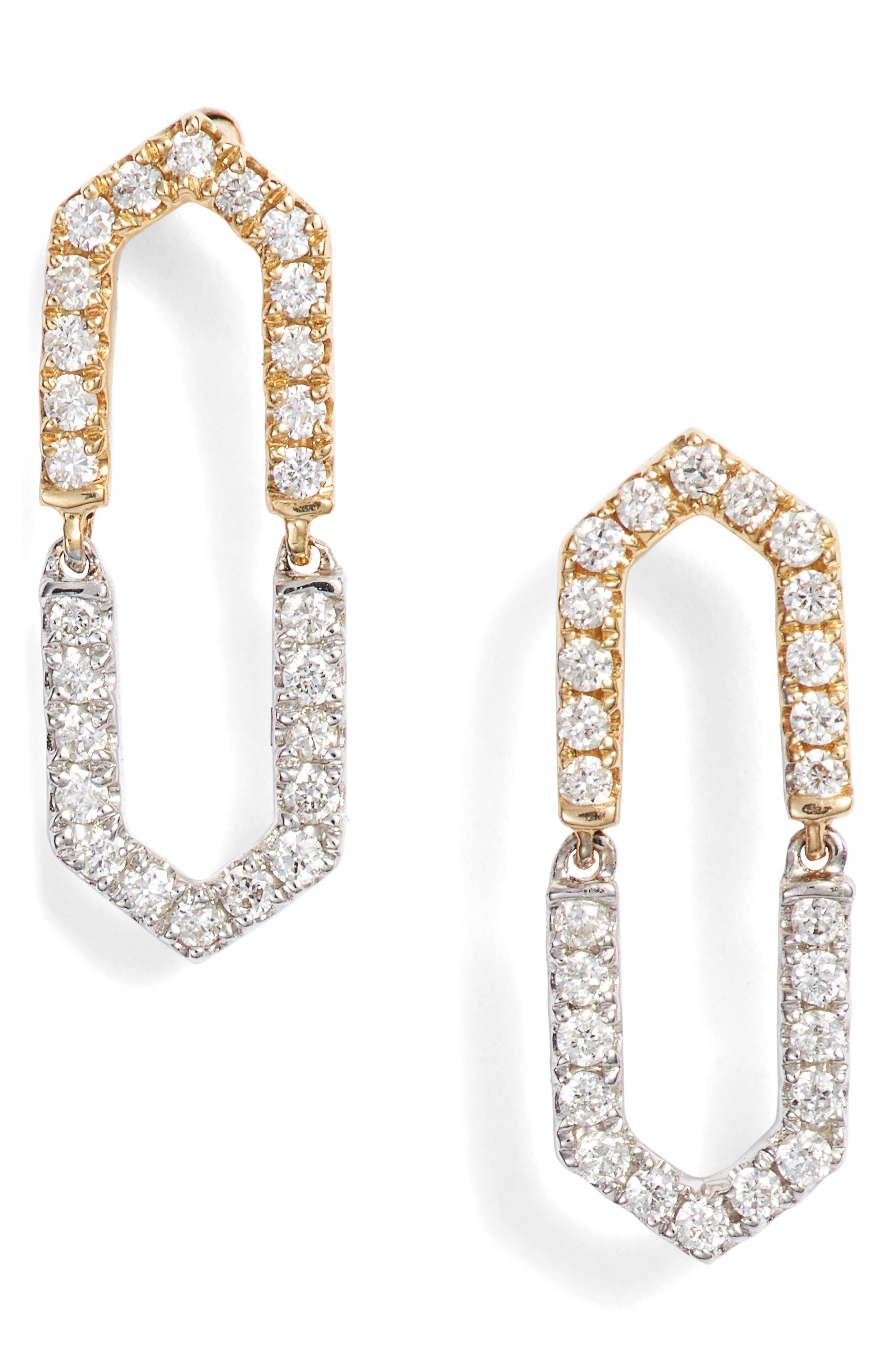 e62453058 Bony Levy Two-Tone Diamond Drop Earrings (Nordstrom Exclusive)