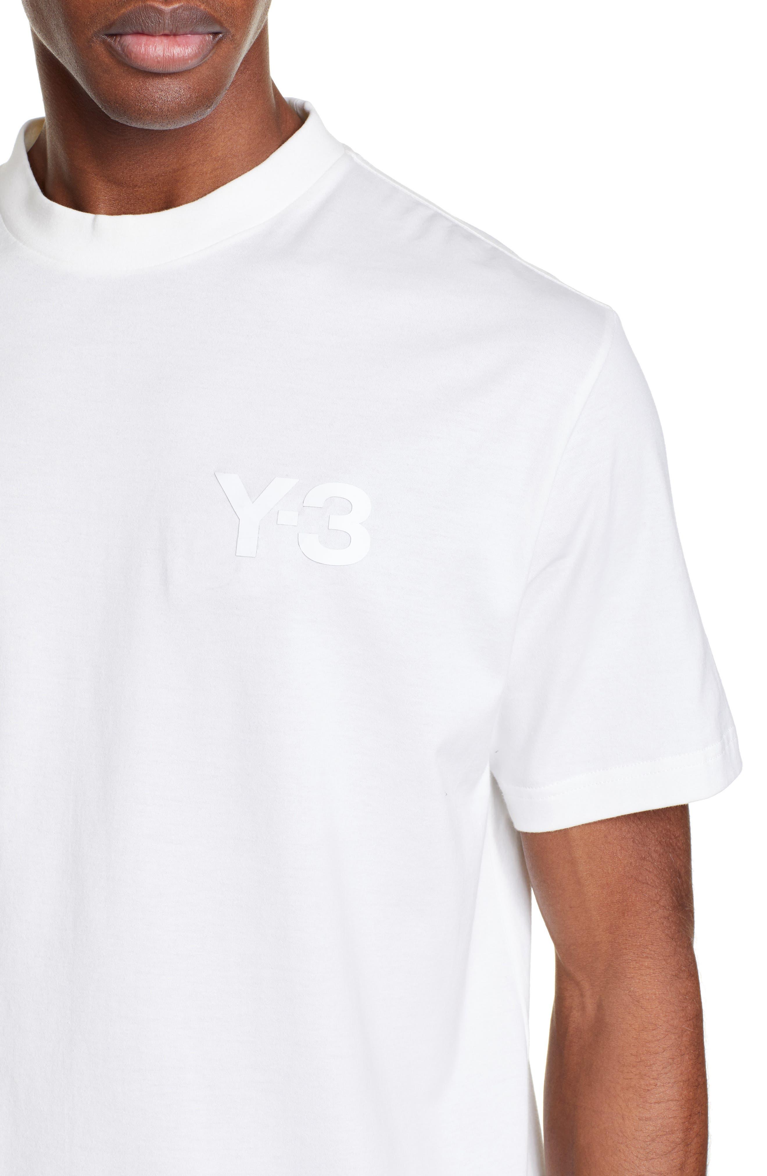 ,                             Logo T-Shirt,                             Alternate thumbnail 4, color,                             CORE WHITE