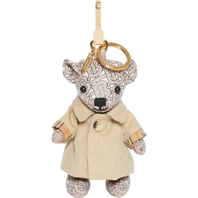 Burberry Thomas Trench Coat Bag Charm - Beige