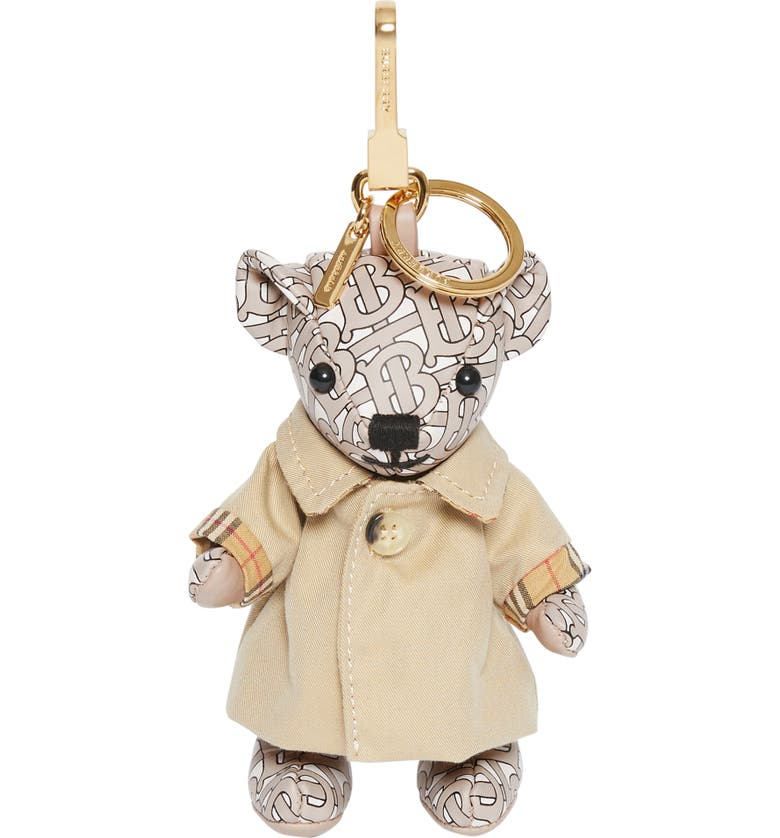 BURBERRY Thomas Trench Coat Bag Charm, Main, color, BEIGE