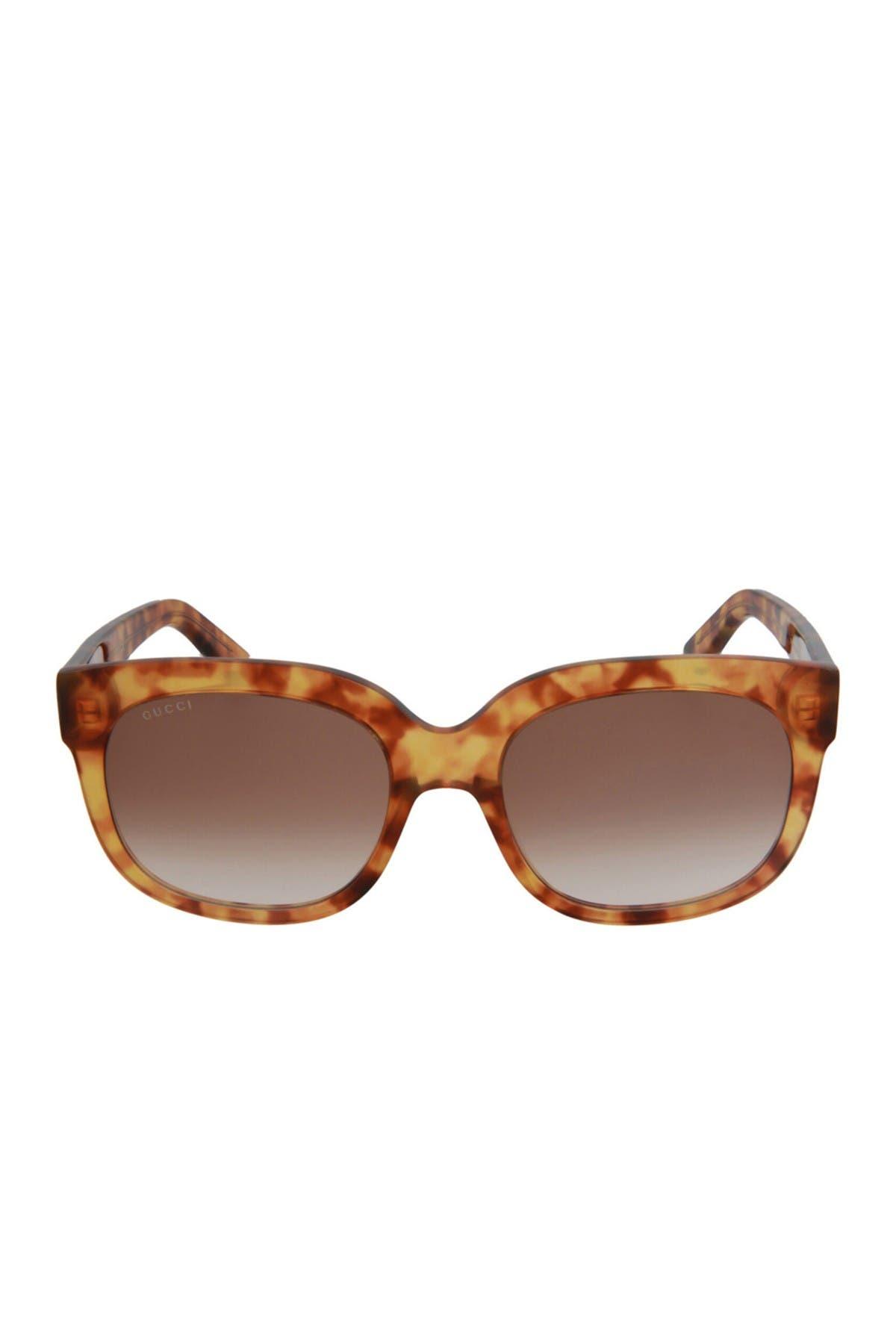 Gucci 56mm Fashion Rectangle Sunglasses In Brown