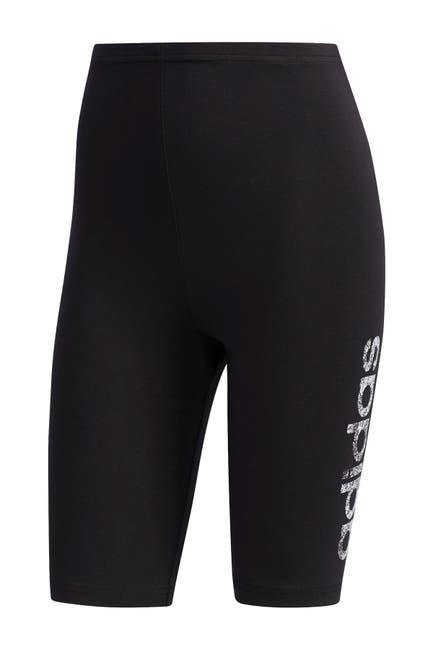 Image of adidas Logo Print Biker Shorts