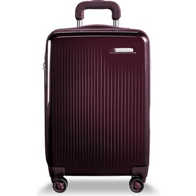 Briggs & Riley 22-Inch Domestic Expandable Spinner Wheeled Carry-On - Purple