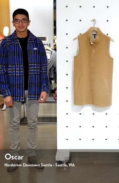 Stand Collar Long Vest, sales video thumbnail