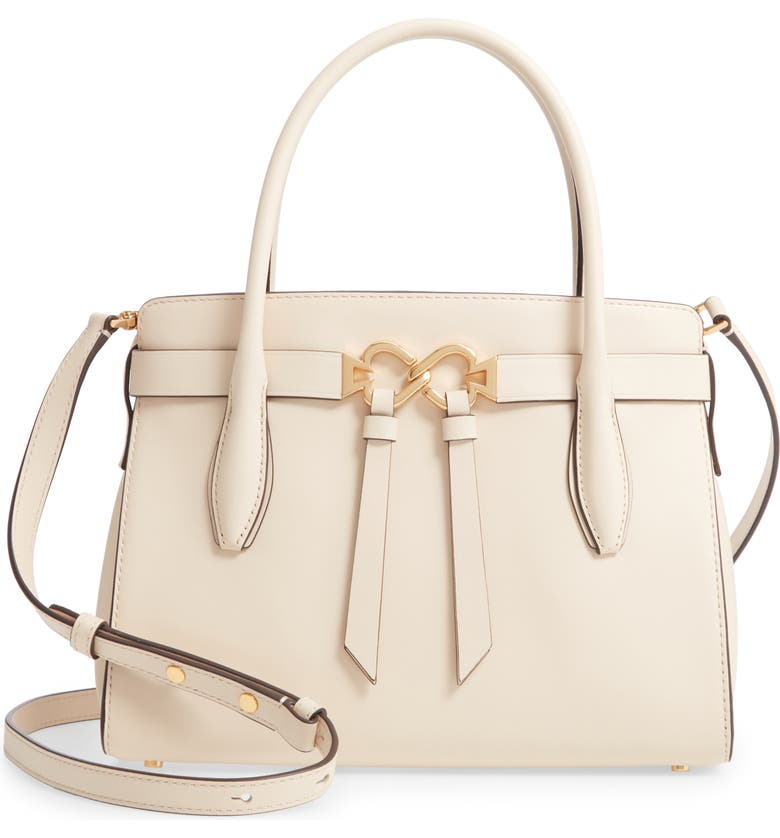 KATE SPADE NEW YORK medium toujours leather satchel, Main, color, BARE