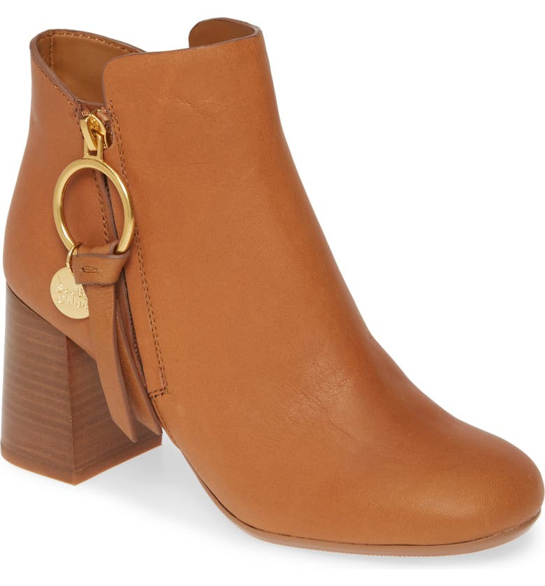 SEE BY CHLOÉ Louise Bootie, Main, color, CUOIO