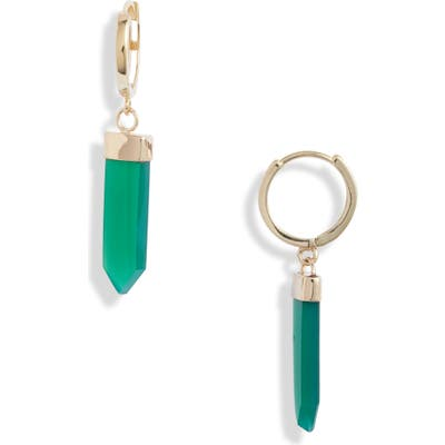 Loren Stewart Moderna Paleta Green Agate Earrings