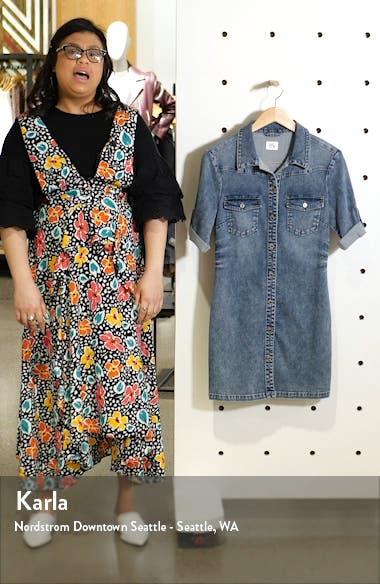 Jean Style Short Sleeve Shirtdress, sales video thumbnail