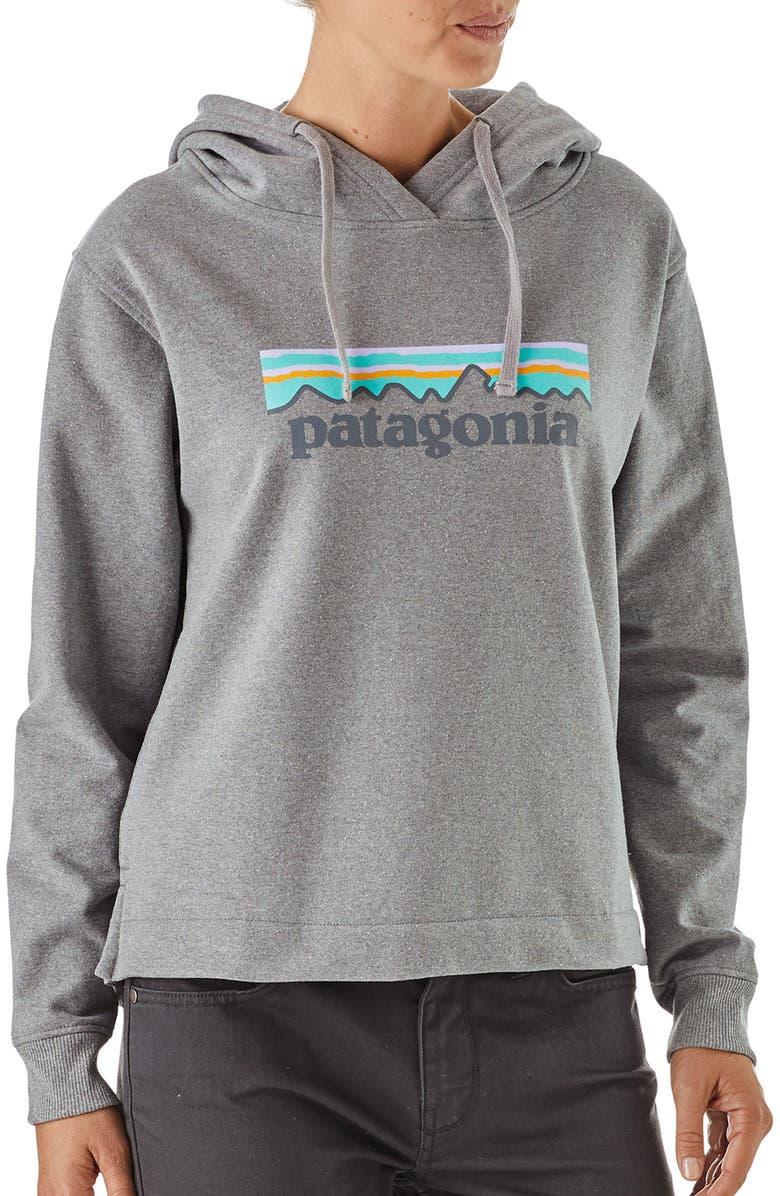 PATAGONIA P-6 Logo Uprisal Hoodie, Main, color, GLH GRAVEL HEATHER